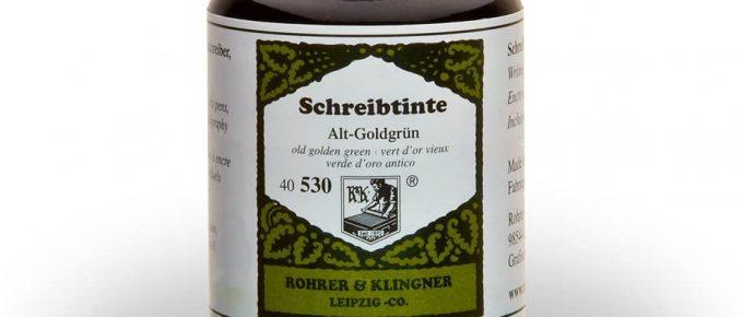 Klingner bottled fountain pen ink
