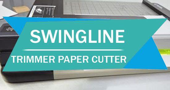 Swingline Paper Trimmer having Guillotine Paper Cutter